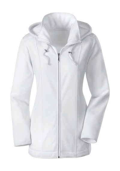 Casual Looks Fleece-Jacke mit abnehmbarer Kapuze 903b2259b3