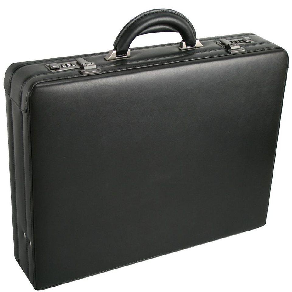 d & n Tradition Aktenkoffer Leder 46 cm in schwarz