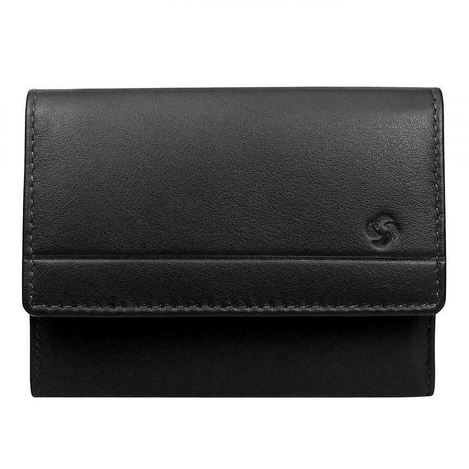 Samsonite Universe Geldbörse Leder 10 cm in schwarz