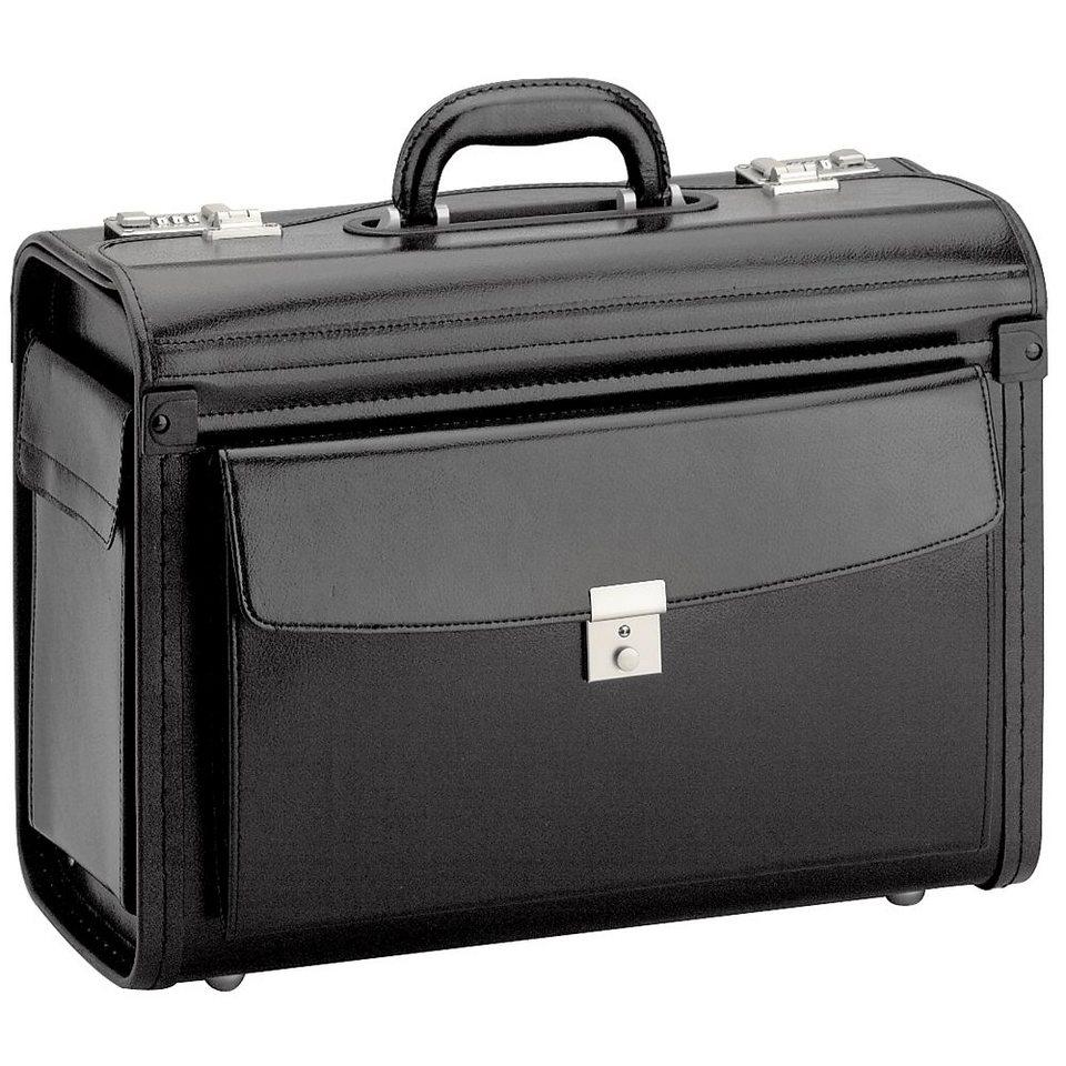 d & n Business & Travel Pilotenkoffer 46 cm Leder in schwarz