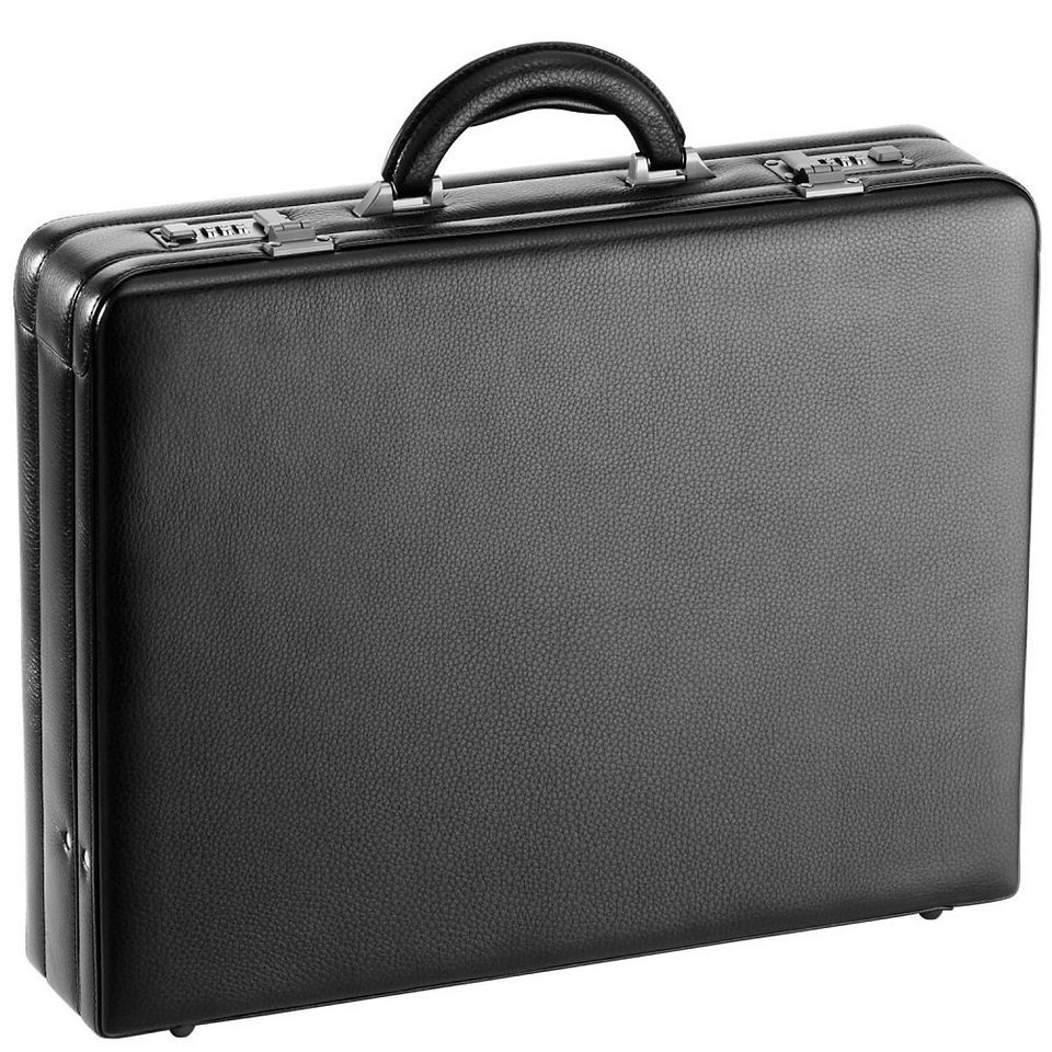 d & n Tradition Aktenkoffer Leder 45 cm in schwarz