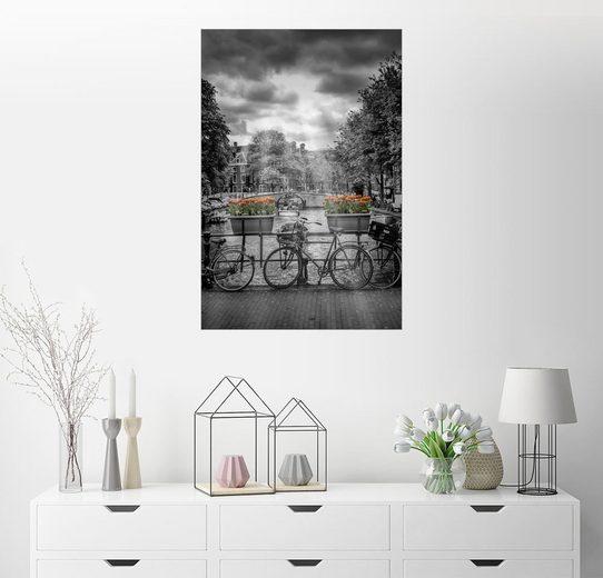Posterlounge Wandbild, Premium-Poster Typisch Amsterdam II