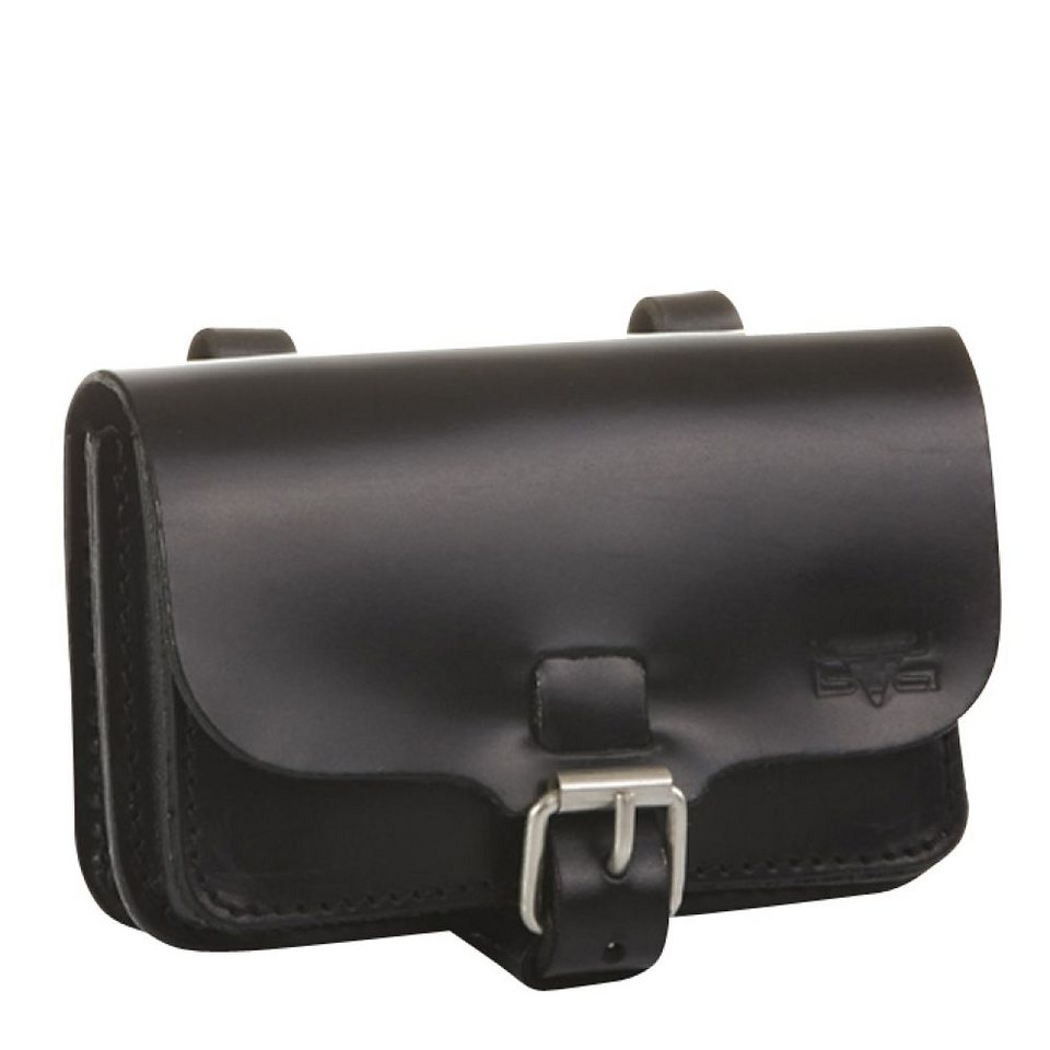 Mika Lederwaren Gürteltasche Leder 15 cm in schwarz