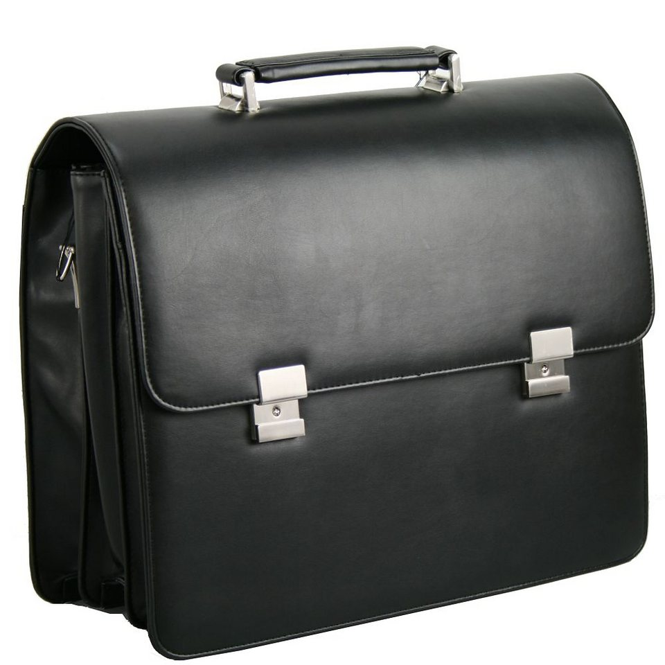 d & n Basic Aktentasche 41 cm Laptopfach in schwarz