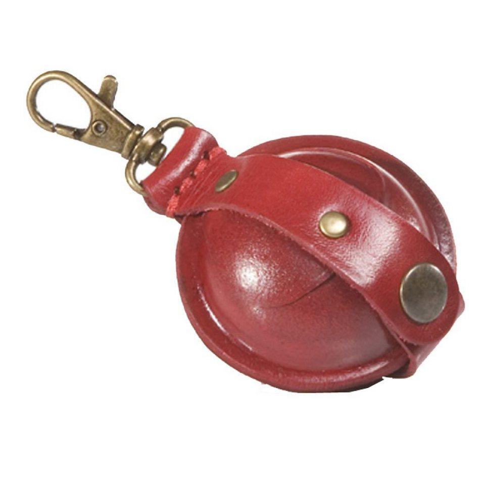 Mika Lederwaren Geldbörsen-Anhänger groß Leder 9 cm in rot
