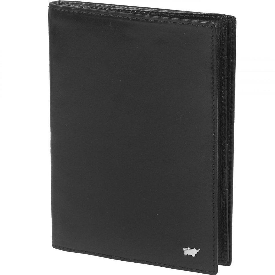 Braun Büffel Basic Brieftasche Leder 12 cm in schwarz