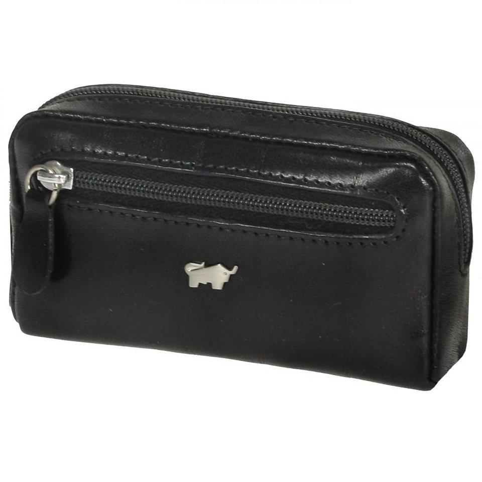 Braun Büffel Basic Schlüsseletui Leder 11 cm in schwarz