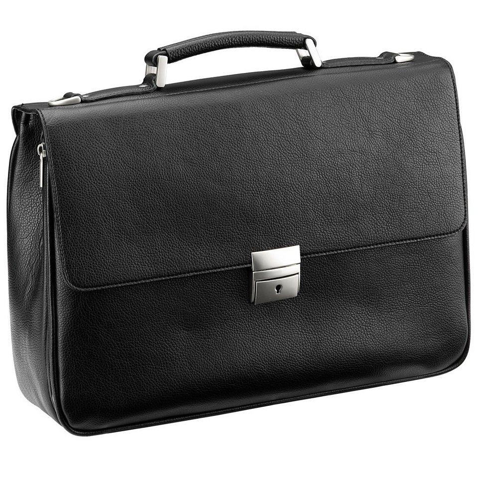 d & n Basic Aktentasche 40 cm Laptopfach in schwarz