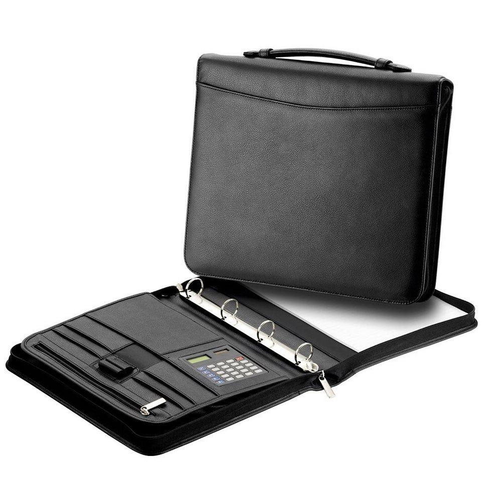 d & n Easy Business Schreibmappe Leder 34 cm in schwarz