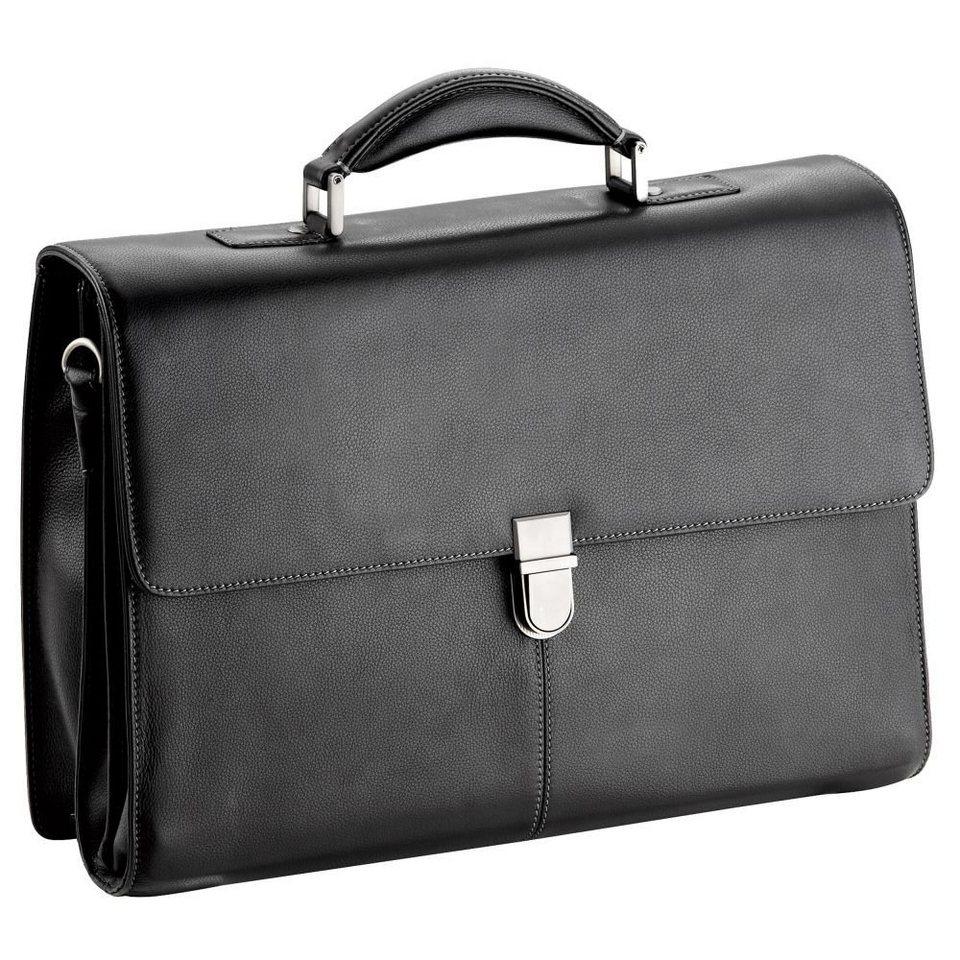 d & n Business Line Aktentasche Leder 42 cm in schwarz