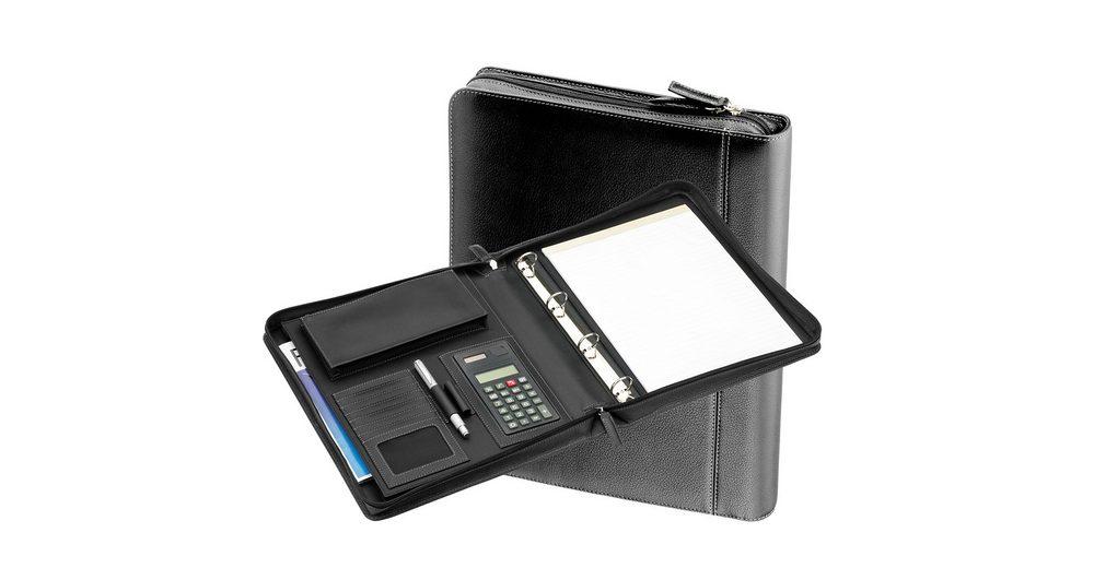 d & n Easy Business Schreibmappe Leder 34 cm