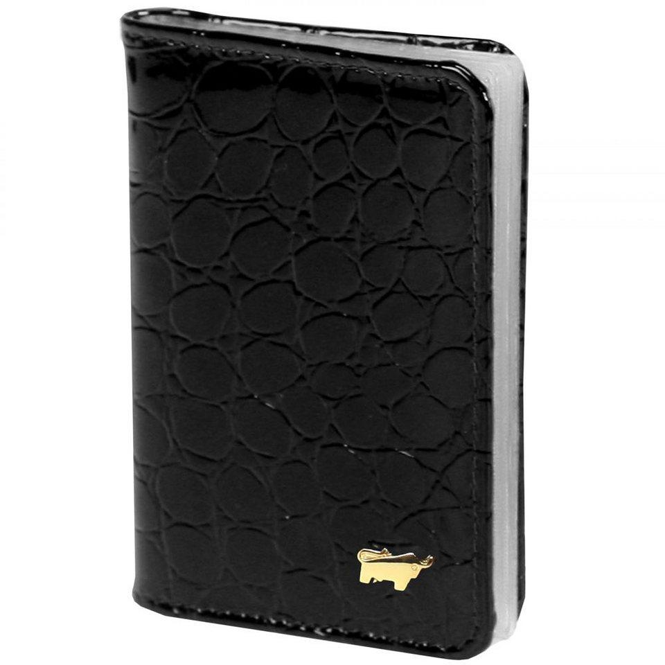 Braun Büffel Glanzkroko Kreditkartenetui Leder 6,5 cm in schwarz