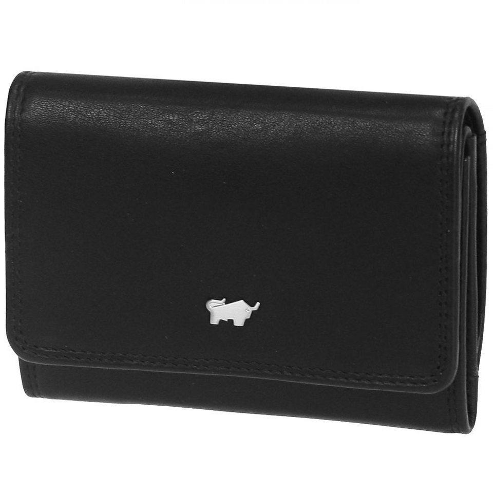 Braun Büffel Golf Geldbörse Leder 11 cm in schwarz