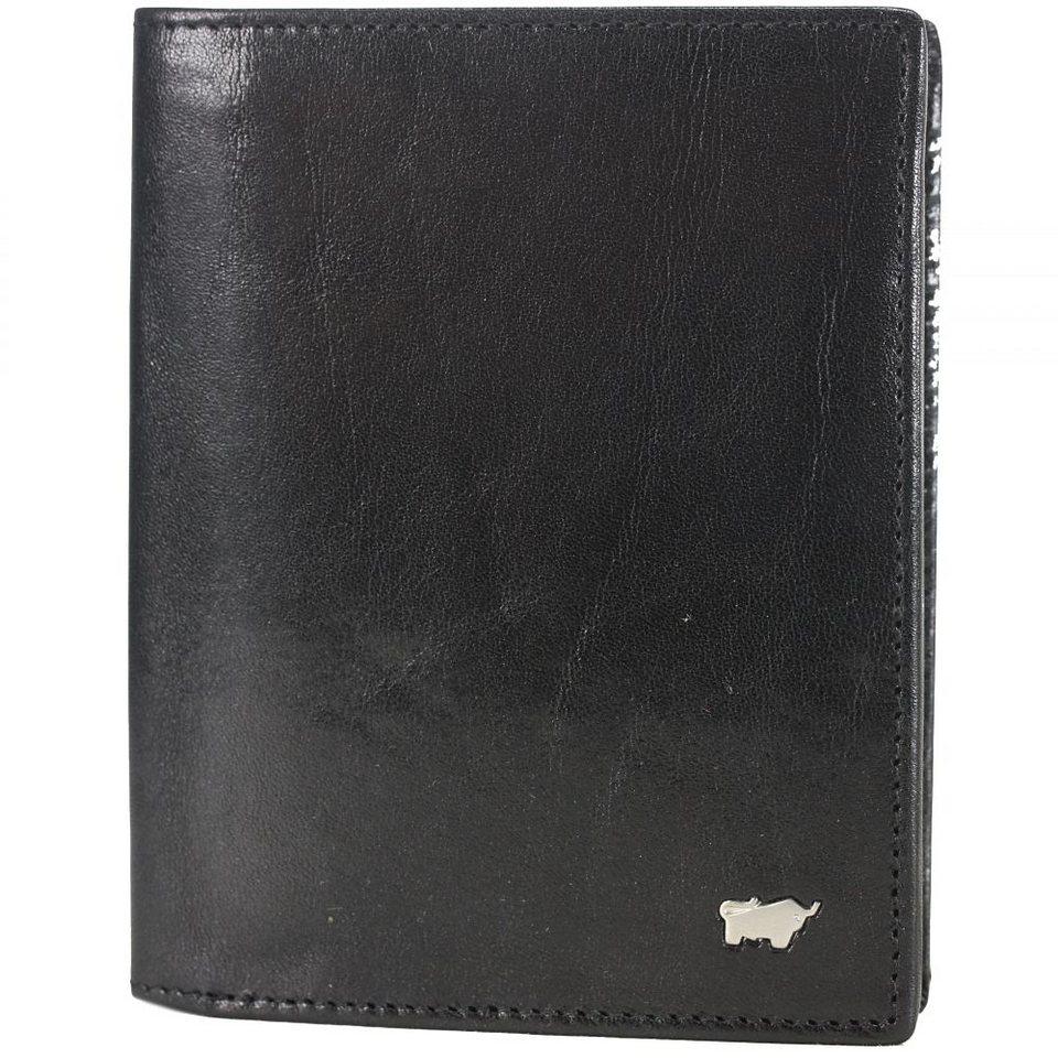 Braun Büffel Basic Geldbörse Leder 10 cm in schwarz