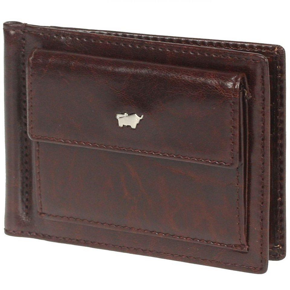 Braun Büffel Basic Dollarclipbörse Leder 12 cm in palisandro