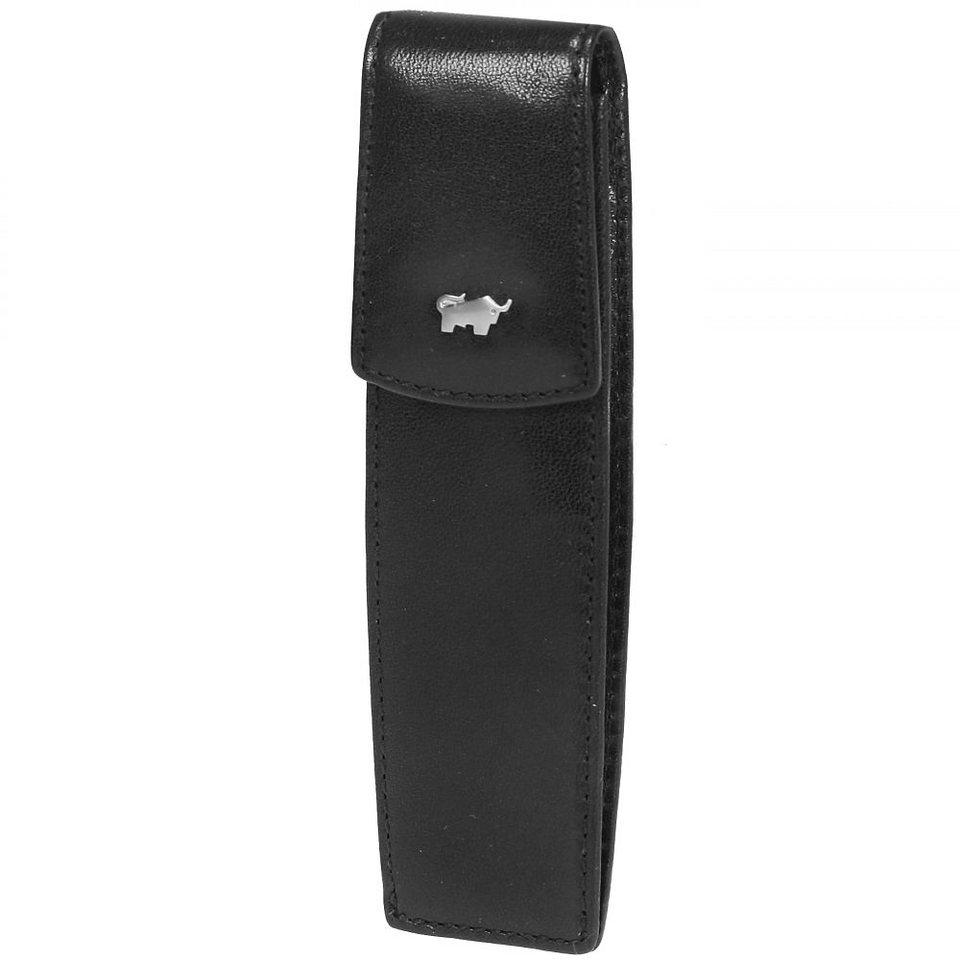 Braun Büffel Basic Schreibgeräteetui Leder 15 cm in schwarz