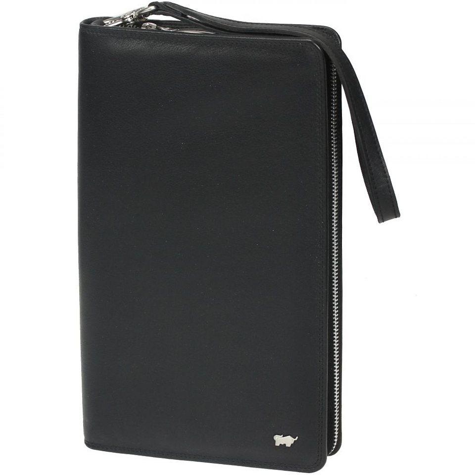 Braun Büffel Golf Reisebrieftasche Leder 14 cm in schwarz