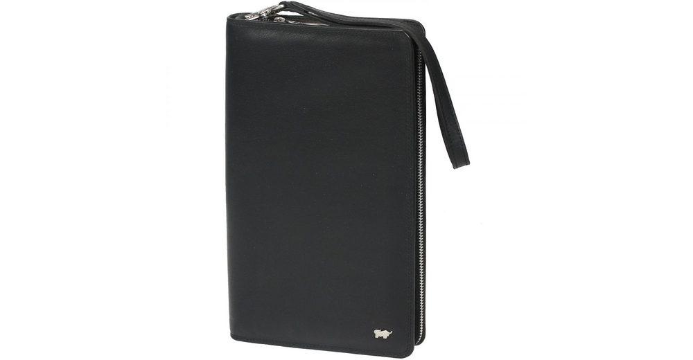 Braun Büffel Golf Reisebrieftasche Leder 14 cm