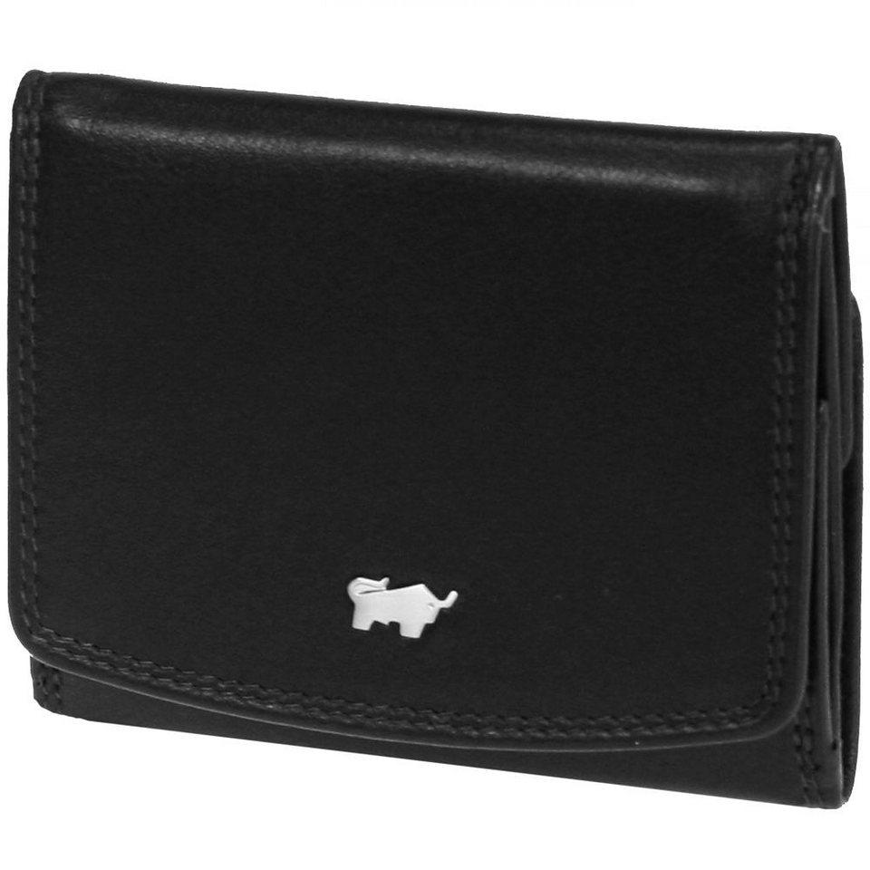 Braun Büffel Golf Geldbörse Leder 9,5 cm in schwarz