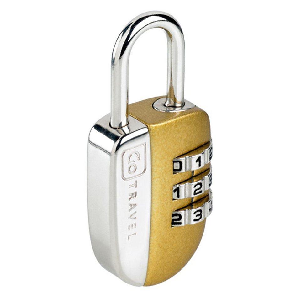 Go Travel Luggage Accessories Zahlenkombinationsschloss in gold-silberfarben