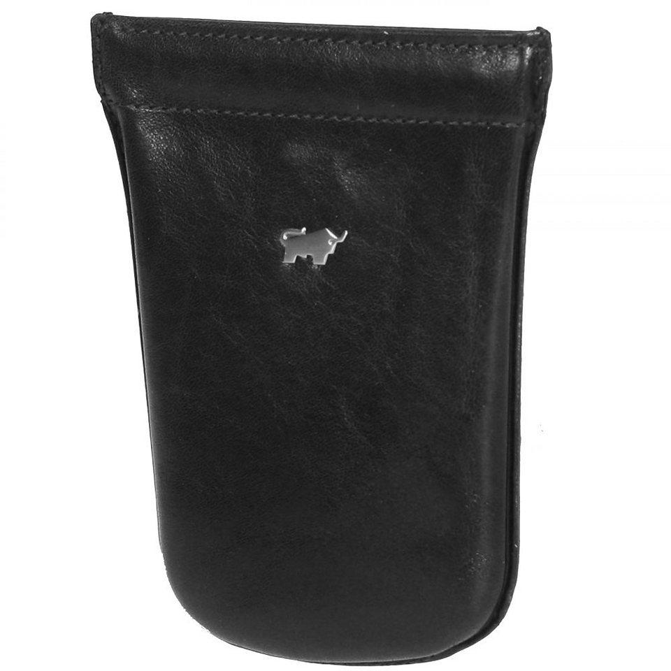Braun Büffel Basic Schlüsseletui Leder 9 cm in schwarz