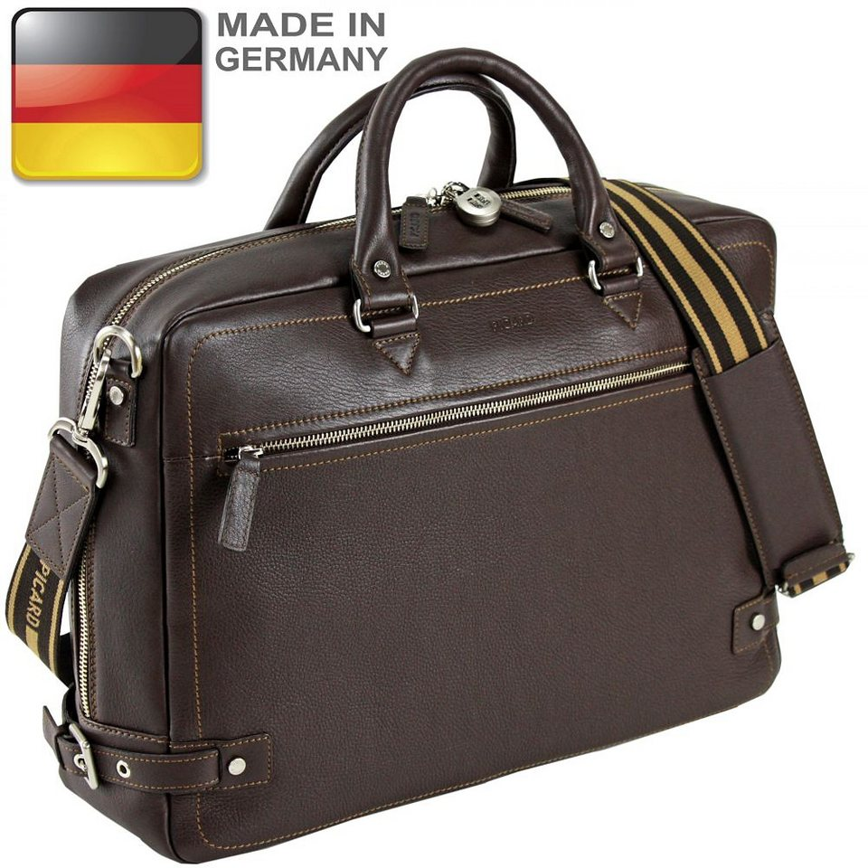 Picard Origin Aktentasche Leder 41 cm in cafe