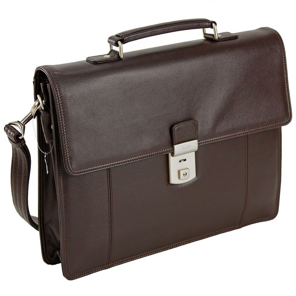 Picard Milano Aktentasche Leder 37 cm in cafe