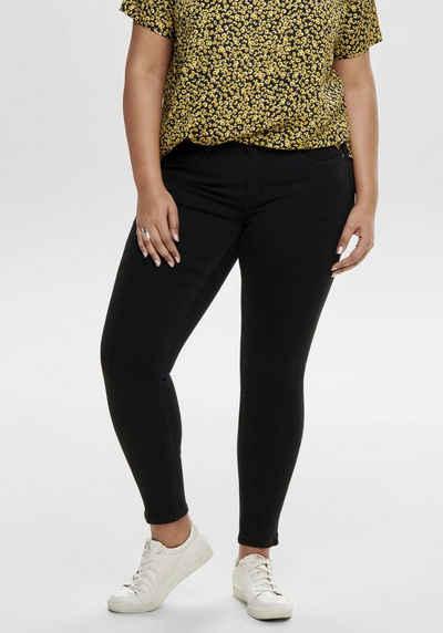 ONLY CARMAKOMA Skinny-fit-Jeans mit Reißverschluss am Beinabschluss