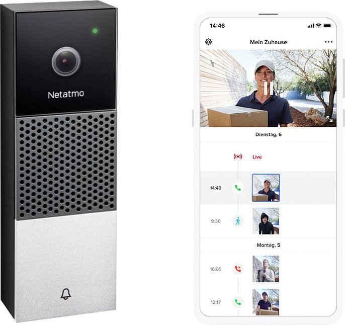 Netatmo »Smarte Videotürklingel« Video-Türsprechanlage (Außenbereich)