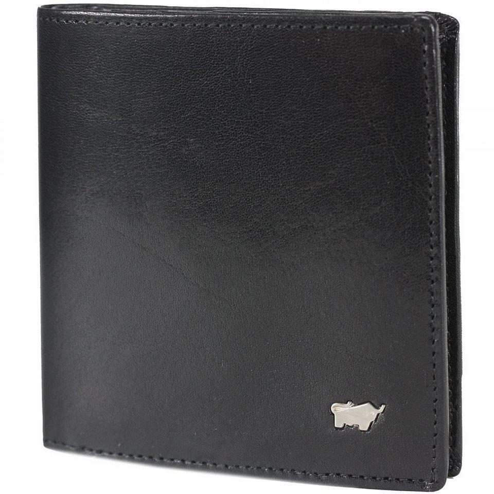 Braun Büffel Basic Geldbörse Leder 9,5 cm in schwarz