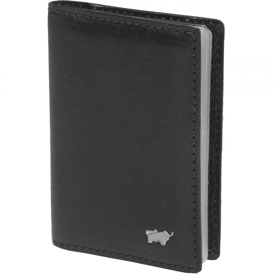 Braun Büffel Basic Kreditkartenetui Leder 7 cm in schwarz