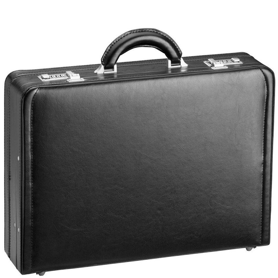d & n Tradition Aktenkoffer Leder 44 cm in schwarz