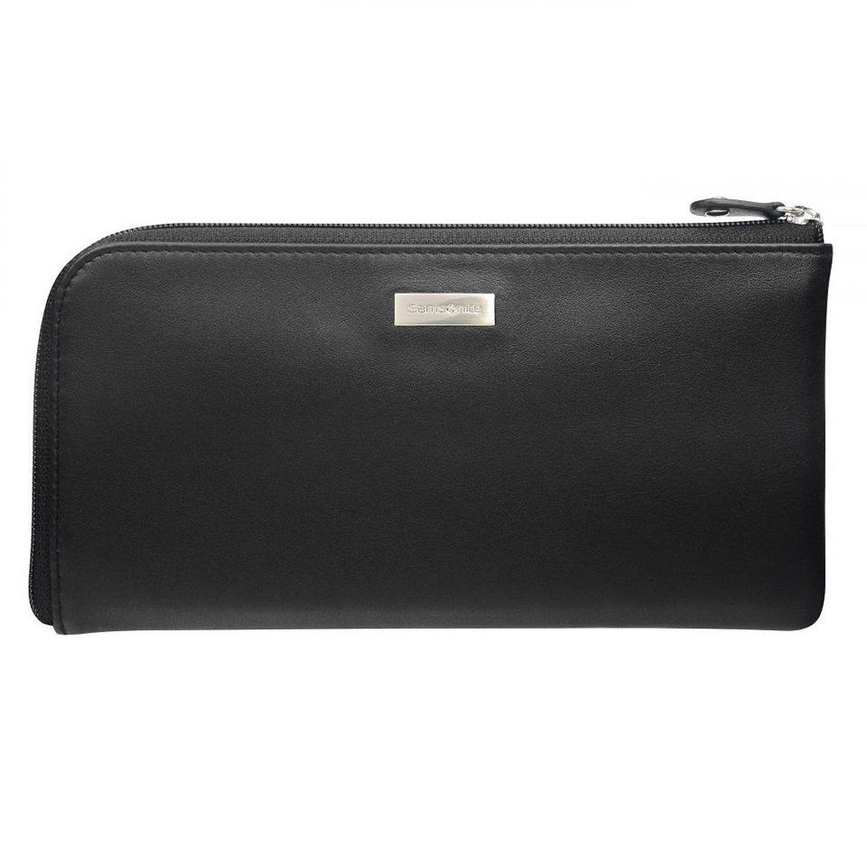 Samsonite Pro-DLX SLG Damenbörse Leder 19 cm in schwarz