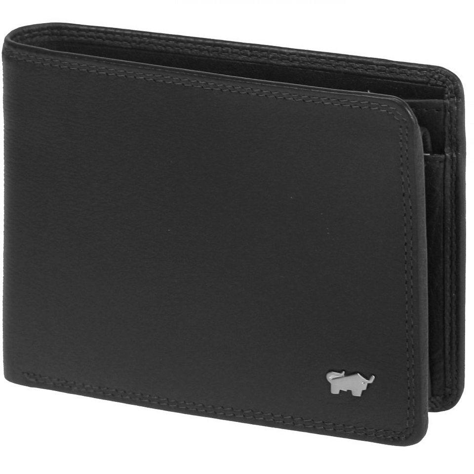Braun Büffel Golf Geldbörse Leder 12 cm in schwarz
