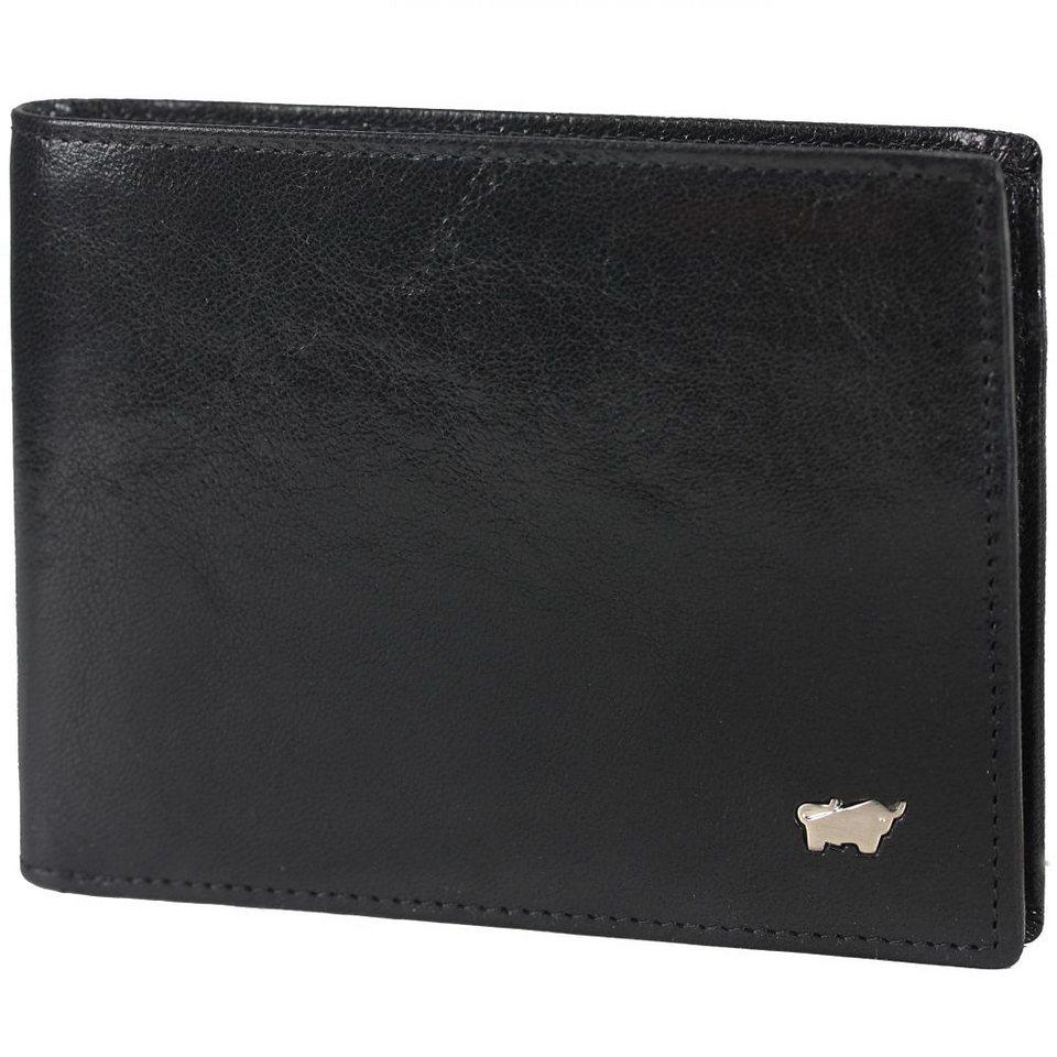 Braun Büffel Basic Geldbörse Leder 12 cm in schwarz