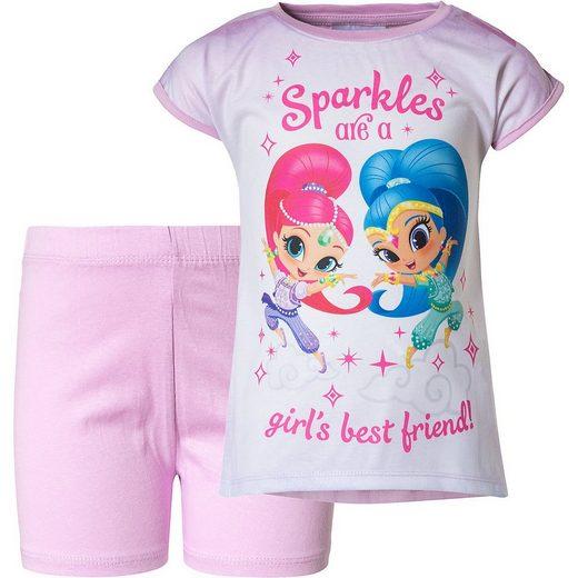 Shimmer & Shine Schlafanzug »Shimmer & Shine Schlafanzug für Mädchen«