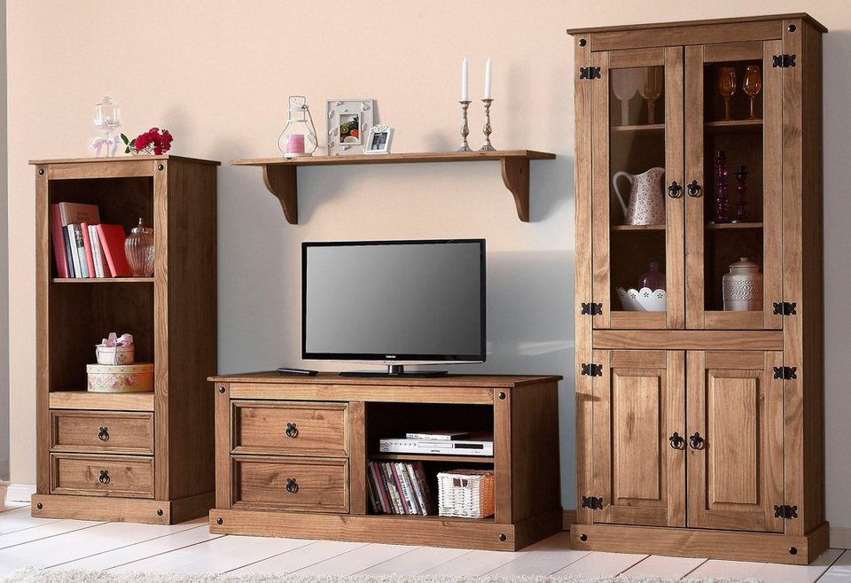 wohnwand 3 tlg home affaire breite 266 cm otto. Black Bedroom Furniture Sets. Home Design Ideas