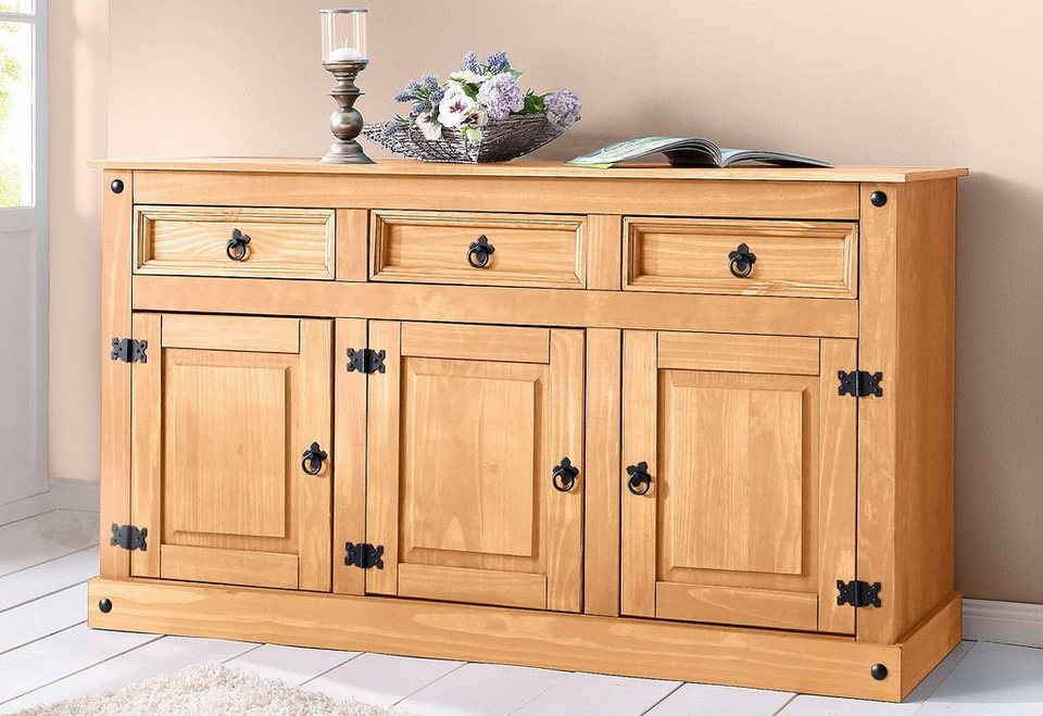 sideboard home affaire breite 151 cm h he 84 cm otto. Black Bedroom Furniture Sets. Home Design Ideas