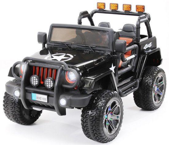 Actionbikes Motors Elektro-Kinderauto »Kinder Elektroauto Wrangler Offroad Jeep«, Belastbarkeit 55 kg, für 2 Kinder - inkl. Fernbedienung