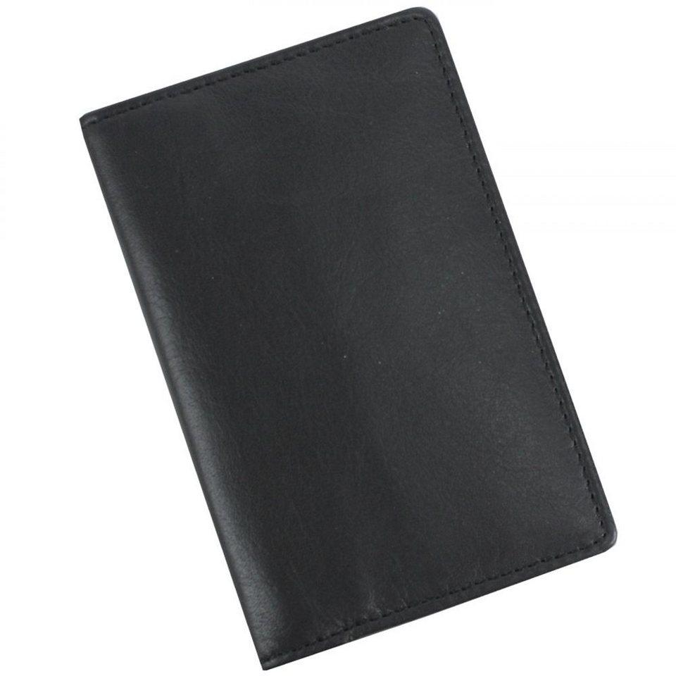 Picard Eurojet Kreditkartenetui Leder 7 cm in schwarz
