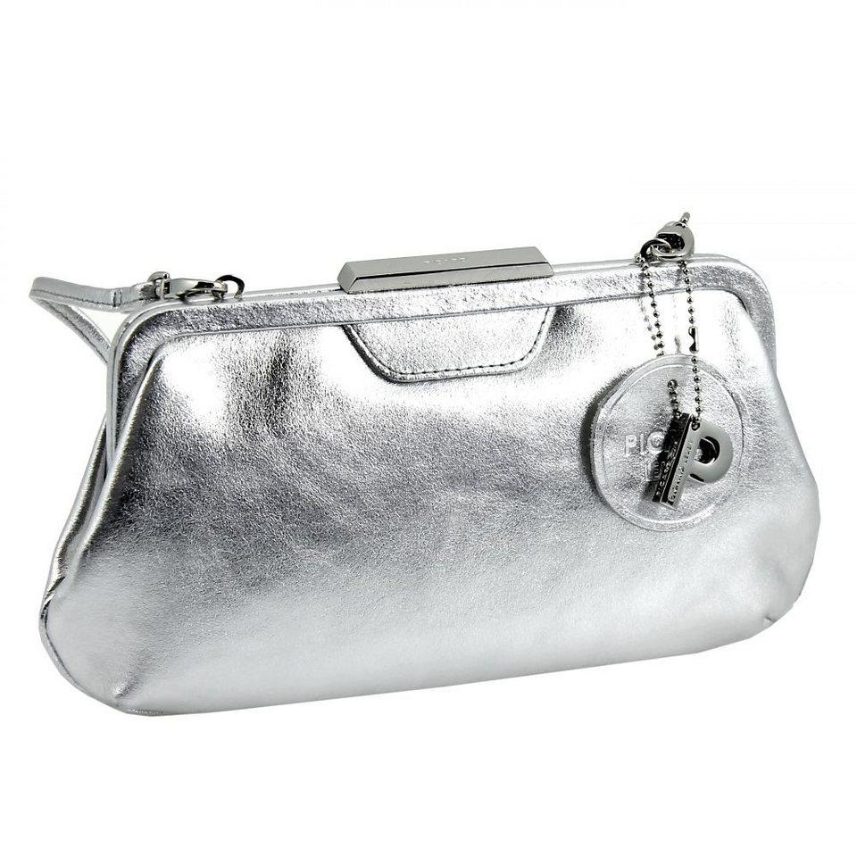 Picard Auguri Damentasche Leder 26 cm in silberfarben