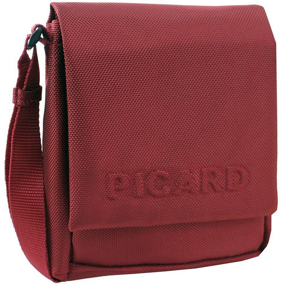 Picard Hitec Umhängetasche Nylon 16 cm in rot