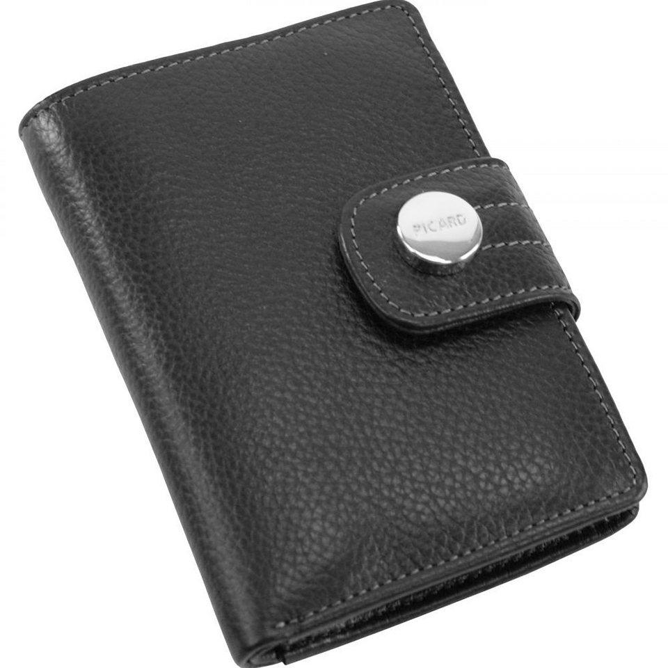Picard Melbourne Geldbörse Leder 8 cm in schwarz