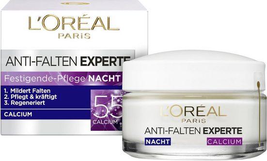 L'ORÉAL PARIS Nachtcreme »Anti-Falten-Expert Calcium 55+ Nachtpflege«, mit Calcium