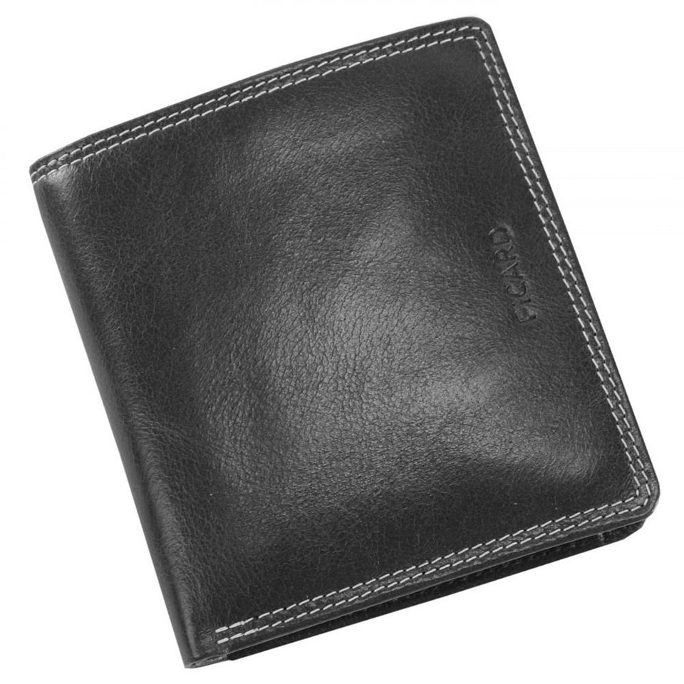 Picard Porto Geldbörse Leder 10 cm in schwarz