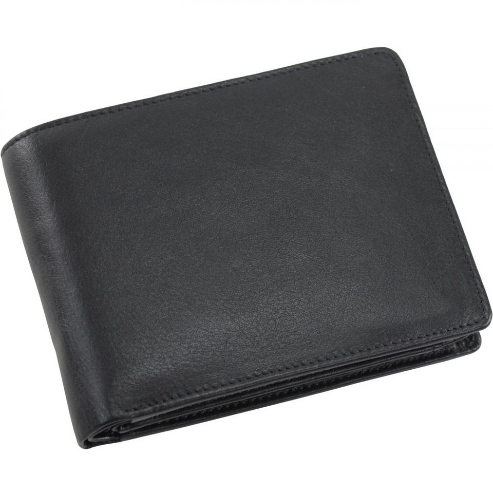 Picard Eurojet Geldbörse Leder 13 cm in schwarz