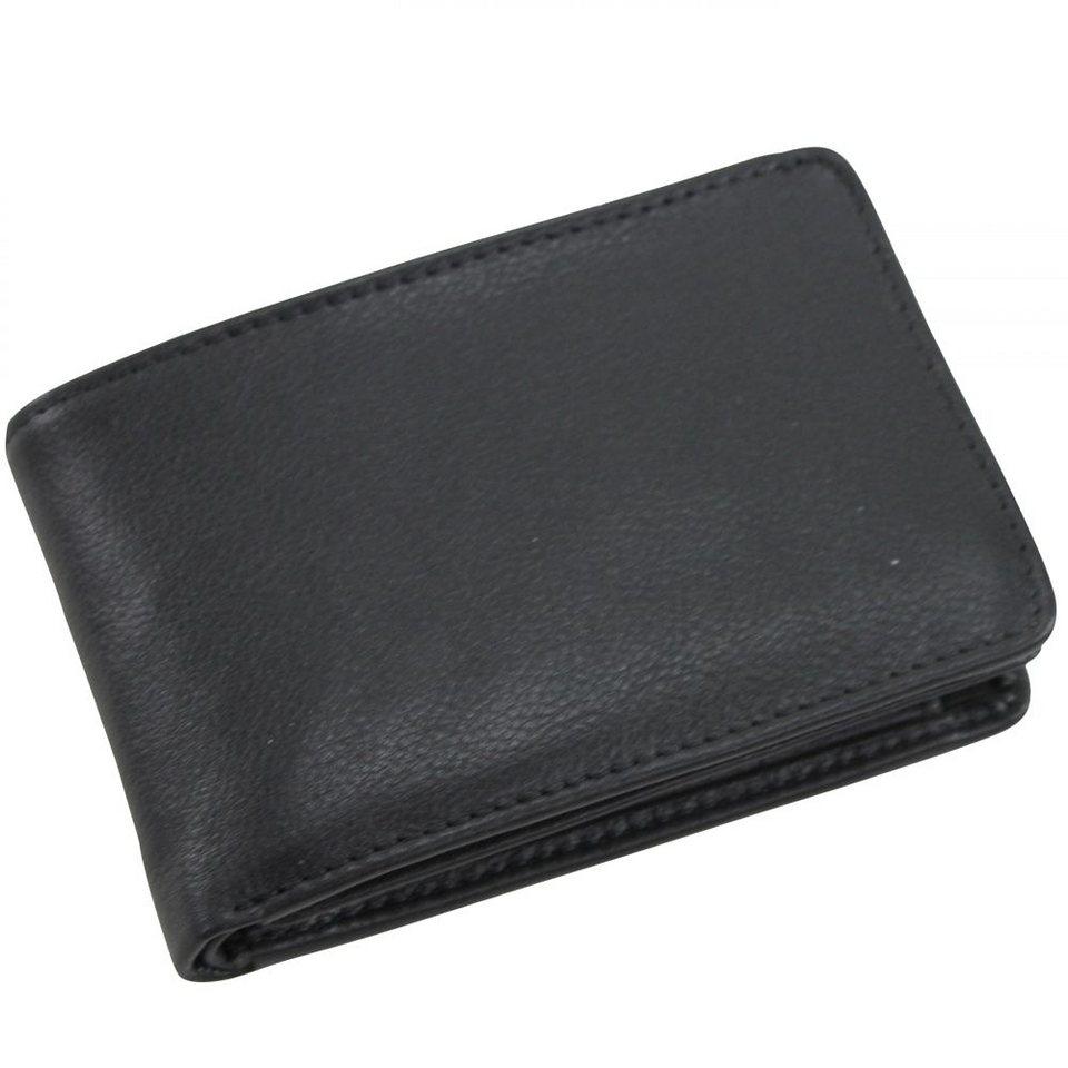 Picard Eurojet Geldbörse Leder 10 cm in schwarz