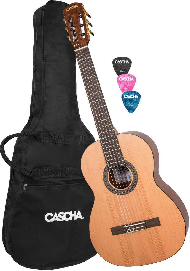 Cascha Konzertgitarre »Stage Series« 4/4, inkl. Gitarrenschule und Stimmgerät