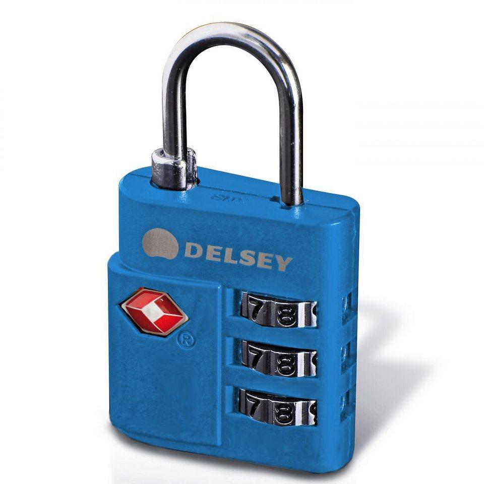 Delsey Accessoires Zahlencode-Schloss TSA in blau