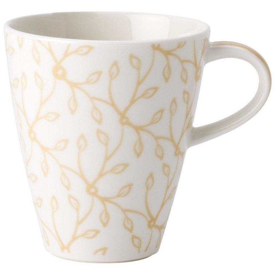 VILLEROY & BOCH Becher mit Henkel klein »Caffè Club Floral vanille« in Dekoriert
